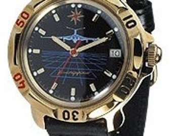 "Russian men's mechanical amphibian watch wristwatch ""VOSTOK KOMANDIRSKIE"" AIRCRAFT"