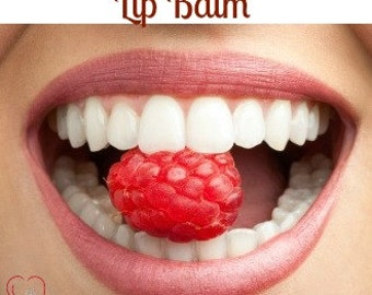 Raspberry Lip Balm, lip balm, flavored lip balm, party favor lip balm, raspberry flavor