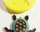 Large, TURTLE, SILICONE Mold - Resin, polymer clay, Candle mold, metal clay, mold, soap mold, flexible 3D mould Hot Glue Mold. free shipping