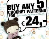 5 lalylala crochet patterns for 24,- Euro SPECIAL DEAL