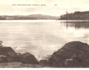 Vintage Postcard...Lake Pennesseewassee, Norway, Maine...Unused...no 2840