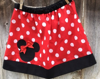 Red Minnie Mouse Skirt