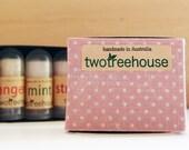 3 handmade natural mini l...