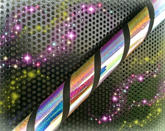 Glittered Galaxy  Dance & Exercise Hula Hoop COLLAPSIBLE Polypro, HDPE, beginner hula hoop, advanced, or weighted - black sunset sunrise mor