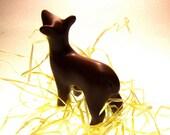 Christmasy DEERdra chocolate brown small polymer clay deer decoration hand made OOAK