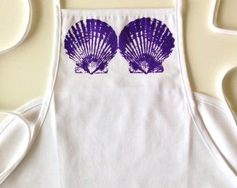 Mermaid Seashells - Screen Printed Apron
