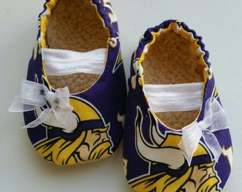 Minnesota Vikings Baby Mary Jane Shoes (shoes only)