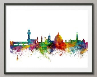 Florence Skyline, Florence Italy Cityscape Art Print (1513)