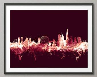 London Skyline, London Cityscape England, Art Print (1648)