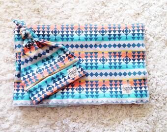 Southwest Swaddle Set - Oversized Swaddle - Organic knit