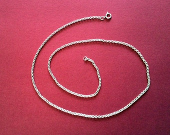 """Rolo Sterling Silver Chain~15""""~16""""~17""""~18""""~19""""~20""""~Or Custom!~Small Bail fits most Pendants/Enhancers"""