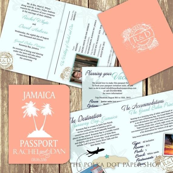 Wedding Invitations High End: Passport Wedding Invitation / High-End By PolkaDotInvites