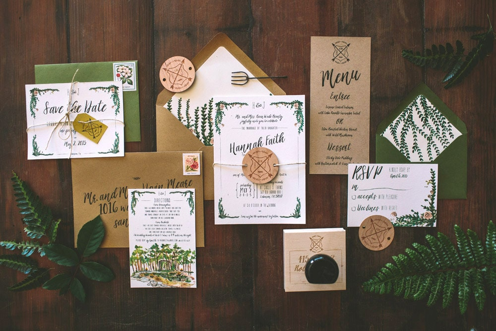 Outdoor Wedding Invitation Wording: Rustic And Whimsical Garden Wedding Invitation