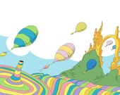 oh the places you'll go.. balloons.. dr seuss.. instant download jpeg