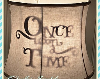 Once Upon a time lamp shade fairytale princess Disney Kids Shadow lamp shade Happily Ever After Lamp Shade