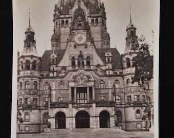 Original Antique Photograph Beautiful Architecture