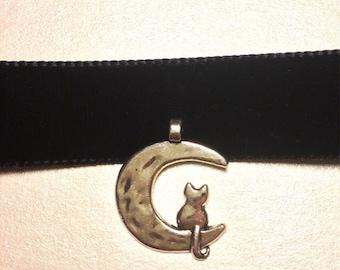 Moon Kitten Black Velvet Choker