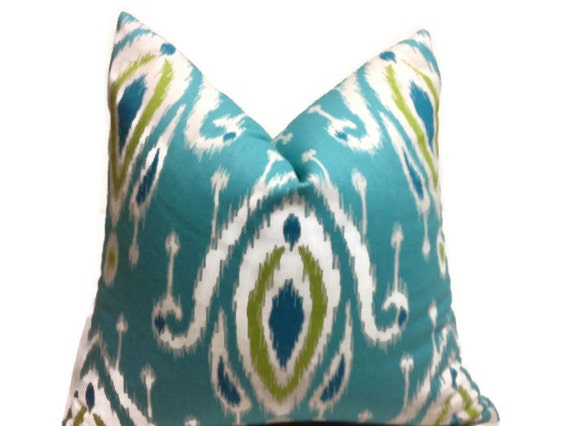 pillows turquoise lime green blue pillows home decor