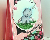"Baby Elephant ""Congratulations"" Card"