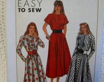 Simplicity Misses Kimono Sleeve Dress Sewing Pattern 9198 Size 16 18 20 22 24 UC FF Uncut