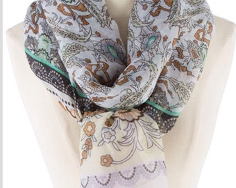 Bridesmaid gift for women gift,  Flolral print soft Lightweight Infinity Scarves scarf , Women Scarves,  Teacher Gift for sister, PiYOYO
