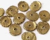 Earth Slices, brass beads, artisan beads, art beads, brass earth slices, hand crafted brass beads