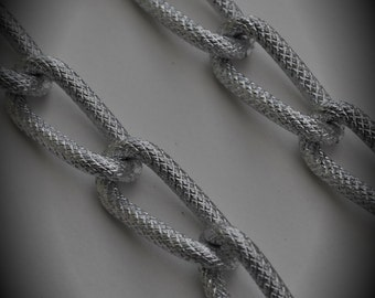 18 Inches Large Silver Plated Aluminum Chain