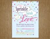 DIY Baby Sprinkle Invitation - 5x7 - Sprinkle with Love - Baby Shower Invitation