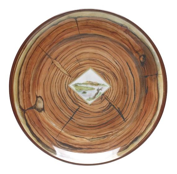 faux bois heavy duty melamine dinnerware by bongenre on etsy. Black Bedroom Furniture Sets. Home Design Ideas