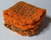 Super soft bamboo and cashmere cotton crocheted wash cloths. Free sample soap