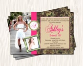 Cowboy Cowgirl Nature Sweet 16 Sixteen Birthday Graduation Party Invitation  - Any Color