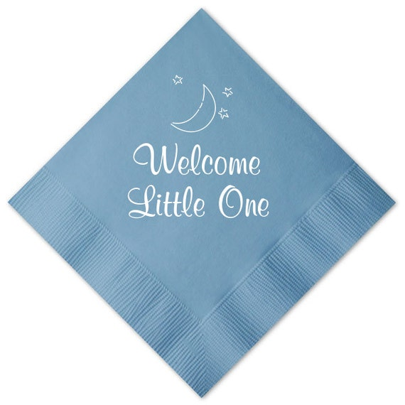 Welcome Little One Personalized Baby Shower Napkins By