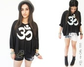 OM Mantra Top  Black Sweater