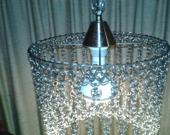 Chain Mail Hanging Swag Lamp - Dutch Auction