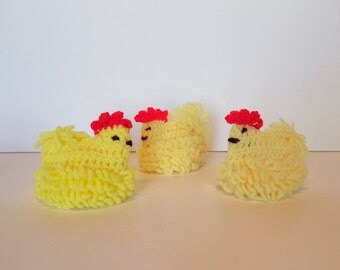 Chick Egg warmers knitted vintage