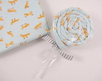 Fox Baby Boy gift Receiving Blanket lollipop - fox blanket