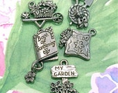 Gardening Set #2 - 5 pieces-(Antique Pewter Silver Finish)