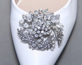 A Pair Of Leaf Crystal Shoe Clips,Rhinestone Shoe Clips,Wedding Bridal Shoe Clips,Flower,Floral,Shoes Decoration,Bridesmaids Gift Shoe Clips