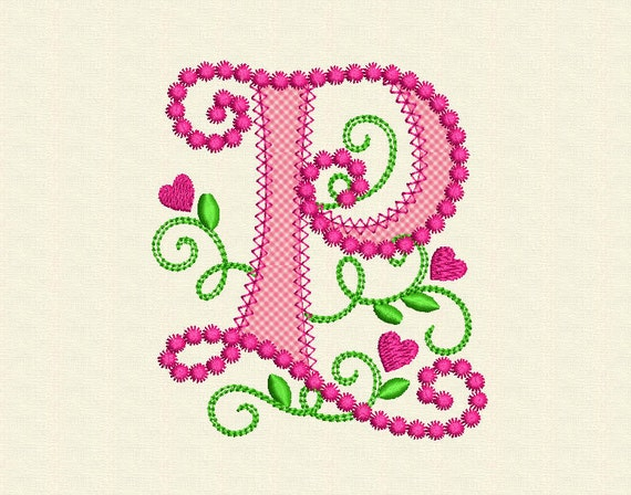 Cute Letter P Alphabet For Lil Princess Hearts By