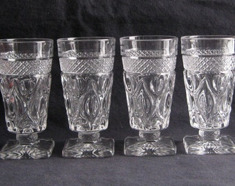 Imperial Cape Cod #1602 6 oz. Footed Juice (Set of Four) Excellent Lightly-Used Condition