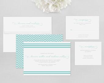 Wedding Invitation Modern Sample - Brighton - Wedding Invitation, Modern Wedding Invitation, Modern Wedding Invitations, Wedding Invitations