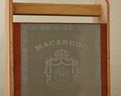 Organizer, desk accessories,wooden tool box,altered cigar box.