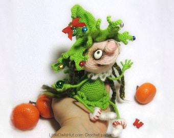 064 Doll Marie the Christmas tree - Amigurumi Crochet Pattern PDF file by Pertseva Etsy
