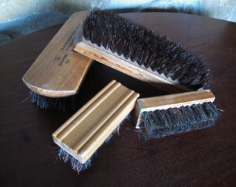 4 Natural Bristle Shoe Brushes, Horsehair Blend, Empire, Easy Grip, Shoe Brushes, B 25, 51 0330,