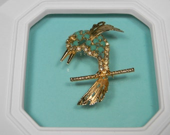 Hobe Bird Brooch, 1965 Signed Dated Vintage Figural, Just Reduced