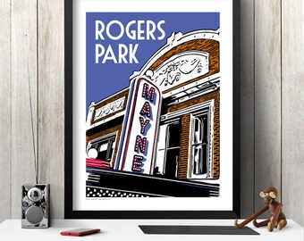 ROGERS PARK Chicago Neighborhood Poster