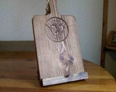 iPad Cutting Board Stand with Monogram Initial Country Kitchen Decor