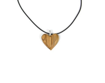 Bethlehem Olive Wood Heart Necklace
