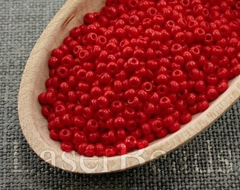 20g Seed beads 8/0 Opaque Red Seed Bead Rocailles NR 273 Opaque seed beads Red seed beads