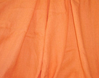 Bright orange linen - 3 yds. x 56""